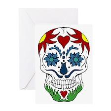 Muerta Skull Greeting Card