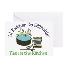 Rather Be Stitchin' Greeting Card