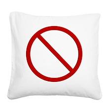No Drama Square Canvas Pillow