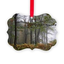 Foggy Morning in the Forest Ornament