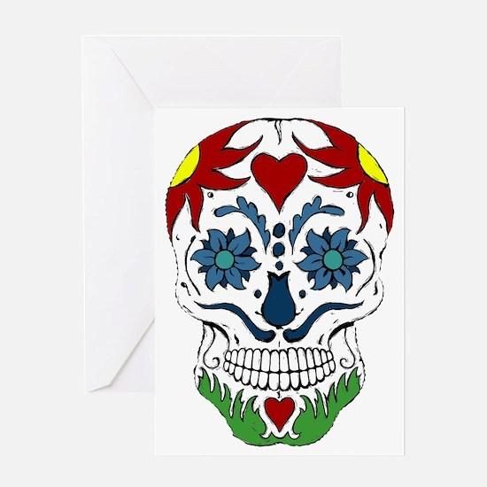Muertos Skull Greeting Card