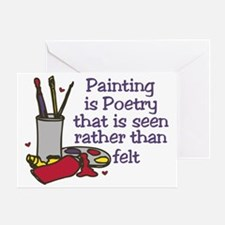 Painting is Poetry Greeting Card