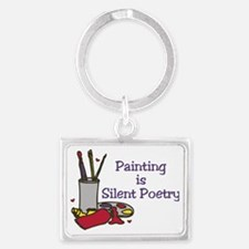 Silent Poetry Landscape Keychain