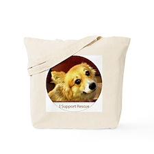 I Support Rescue Corgi Tote Bag