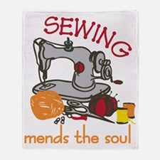 Sewing Mends The Soul Throw Blanket