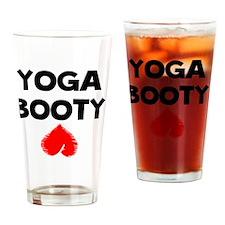 Yoga Booty Drinking Glass