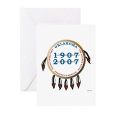 Oklahoma Centennial Shield Greeting Cards (Package