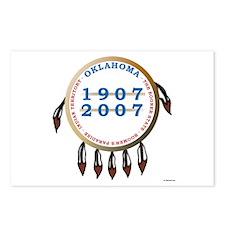 Oklahoma Centennial Shield Postcards (Package of 8
