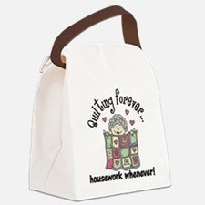Quilting Forever Canvas Lunch Bag