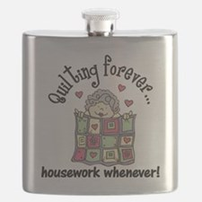 Quilting Forever Flask