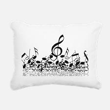 Music Notes Rectangular Canvas Pillow