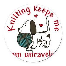 Knitting Round Car Magnet