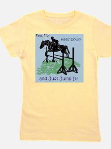 Fun Hunter/Jumper Equestrian Horse Girl's Tee