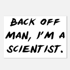 Back off man, Im a Scient Postcards (Package of 8)