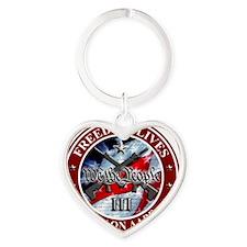 Three Percent - We The People (Flag Heart Keychain