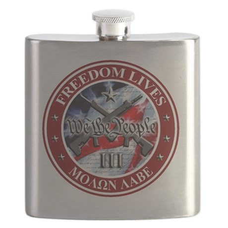 Three Percent - We The People (Flag) Flask