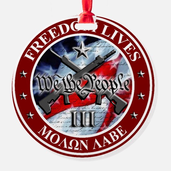 Three Percent - We The People (Flag Ornament