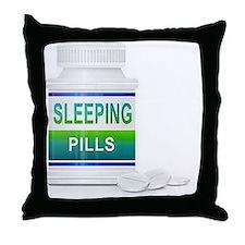 sleeping pills Throw Pillow