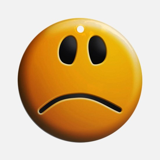 sad face Round Ornament