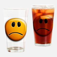 sad face Drinking Glass