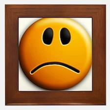 sad face Framed Tile