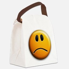 sad face Canvas Lunch Bag