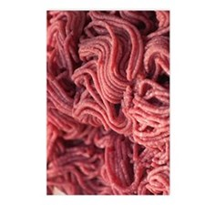 raw hamburger Postcards (Package of 8)