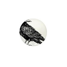 Raven Sketch Mini Button