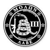 Molon labe Round Car Magnets