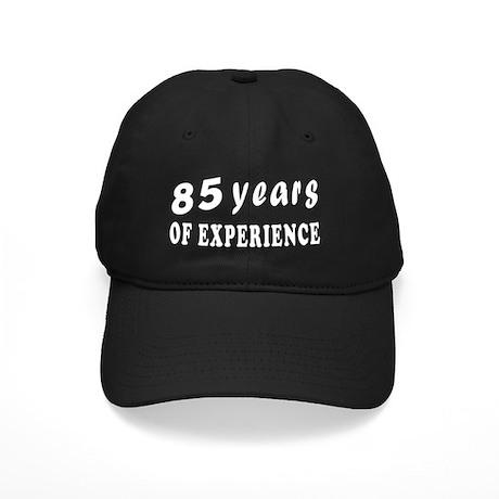 85 years birthday designs Black Cap