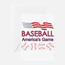 Baseball America's Game Greeting Cards (Package of