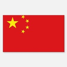 China National flag Rectangle Decal