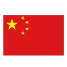 China National flag Postcards (Package of 8)