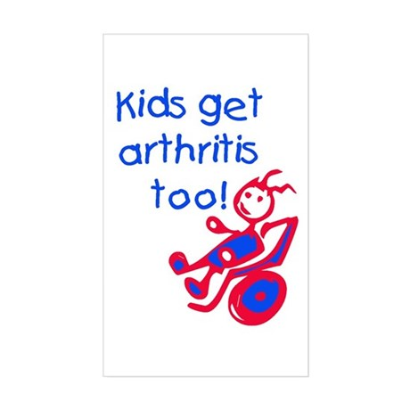 juvenile rheumatoid arthritis sticker rectangular by