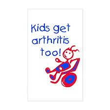 Juvenile Rheumatoid Arthritis Sticker (Rectangular