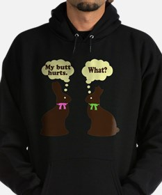 My butt hurst Easter bunnies Hoodie (dark)