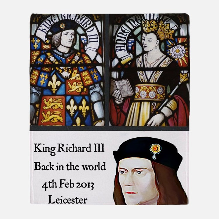King Richard III Throw Blanket