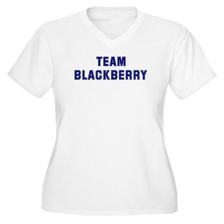 Team BLACKBERRY Women's Plus Size V-Neck T-Shirt