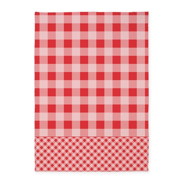 Gingham Rug: Poppy Red Gingham 5'x7'Area Rug By ADMIN_CP53220799