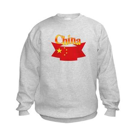 China flag ribbon Kids Sweatshirt