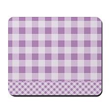 Lilac Violet Gingham Mousepad