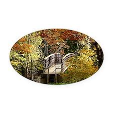 Appalachian Trail Bridge Oval Car Magnet