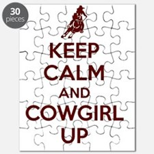 Keep Calm and Cowgirl Up Puzzle