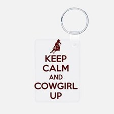 Keep Calm and Cowgirl Up Keychains