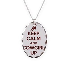 Keep Calm and Cowgirl Up Necklace