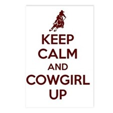 Keep Calm and Cowgirl Up Postcards (Package of 8)