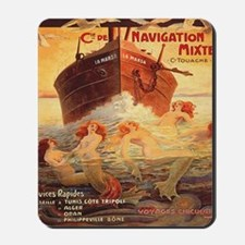 Vintage Mermaids Boat Mousepad