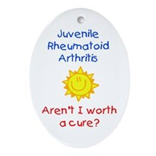 Juvenile Rheumatoid Arthritis Oval Ornament
