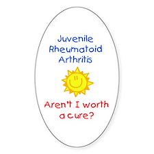 Juvenile Rheumatoid Arthritis Oval Decal