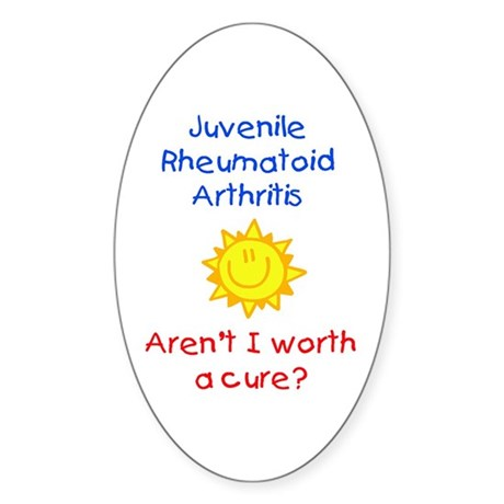 Juvenile rheumatoid arthritis oval decal by kariscreations for Stickers juveniles